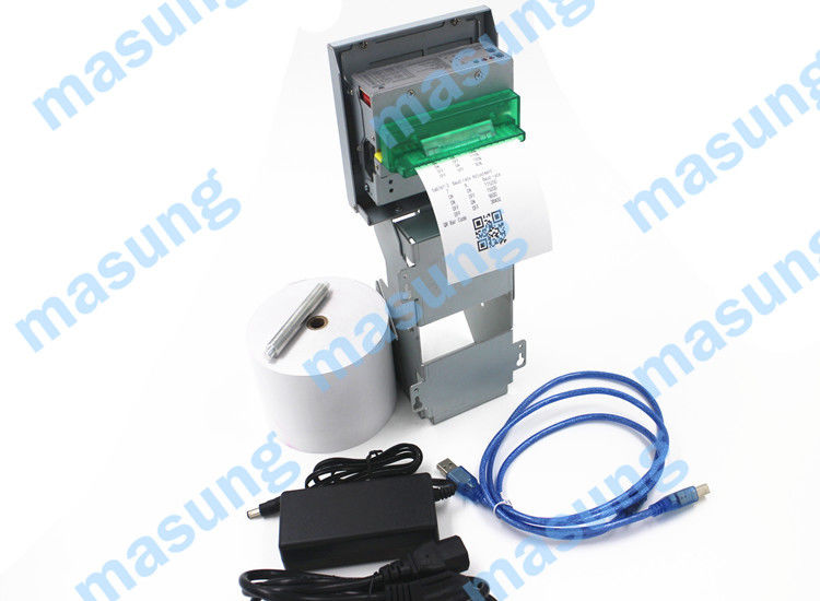 RS-232 / USB 80 mm Mobile Thermal Printer , Black Mark Detection